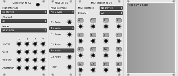 new midi modules and notes coming